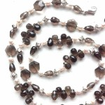 Smokey topaz sterling and pearl can be worn long orhellip