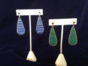 Dreamy Teardrop Woven Earrings